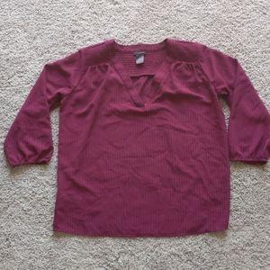 ⭐5 for $20⭐ Maroon/Burgundy half sleeve blouse